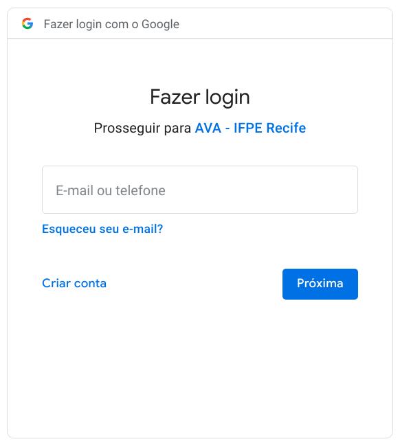 fig:google login